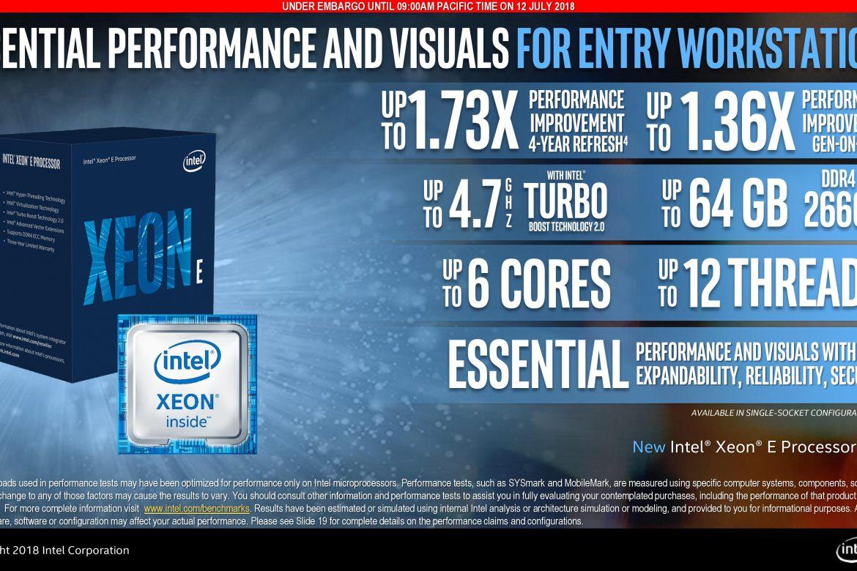 اینتل پردازندههای Coffee Lake Xeon E نسل جدید را معرفی کرد